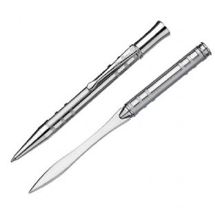 Mackintosh Etched Lattice Ballpoint Pen & Paperknife